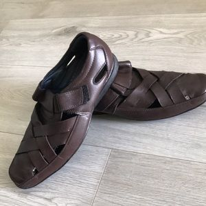 Men's Leather Shoes / Size 7/ Brown